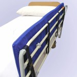 Protector acolchado barandillas cama
